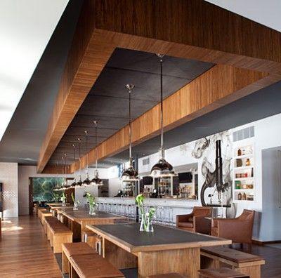 Modern Restaurant Design The Lab Gastropub By Ac Martin The Decor Enlists Memories Of Classic