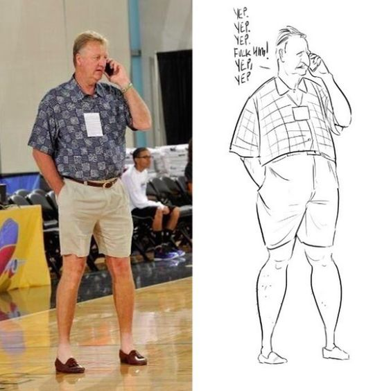 Larry Bird Summer Style Sketch | Art | Pinterest | Sketches Larry Bird And Style
