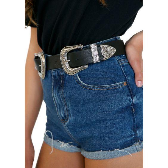 B-Low The Belt Bri Bri Belt (185 CAD) ❤ liked on Polyvore featuring accessories, belts, wide buckle belt, boho belt, buckle belt, b-low the belt belts and double buckle belt