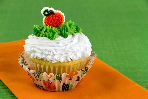 Striped Pumpkin Patch Cupcake