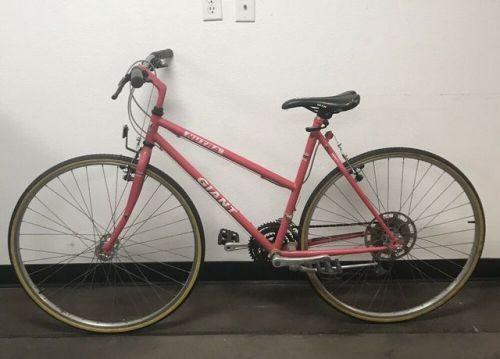 Buy Vintage Pink Womens Giant Nutra Hybrid Chromoly Steel Bike Steel Bike Bicycle Bicycle Bike