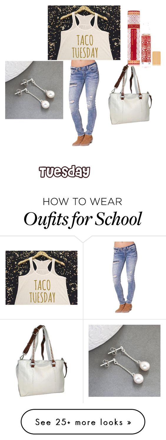 """""""my tuesday school outfit"""" by jessicaloredana on Polyvore featuring Silver Jeans Co., Nino Bossi Handbags, Martha Jackson and Mor"""