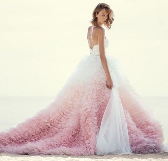 This pink ombre gown from Mania has captivated us all! #ombré #pink #gown…: