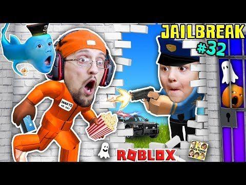 Roblox Jailbreak Fgteev Escapes Jail 3am Corrupt Cop Chase