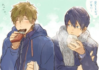 Makoto and Haru  -Free!