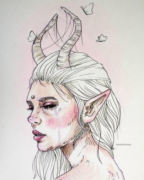 Zodiac Signs As Creepy Monsters belos rostos femininos ilustracoes - Arte no Papel Online