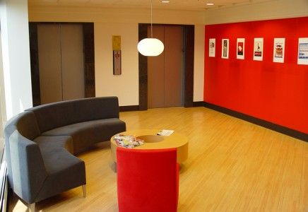 Commercial Real Estate Property:    Stylish Office Waiting Area Within Mars Corporate Center-Southfield, Michigan. Click on the picture to read more about the listing.
