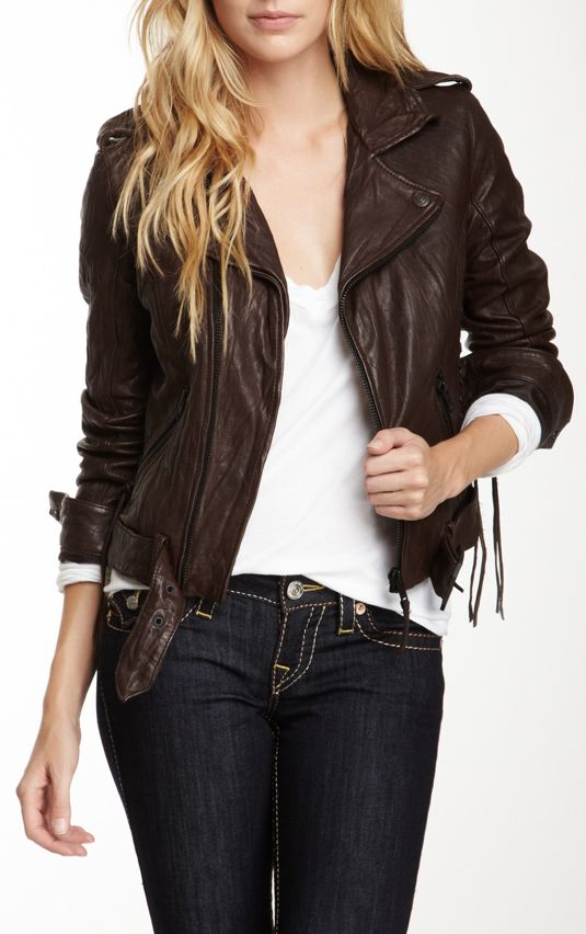 Leather jacket / true religion this might be the one ive been ...