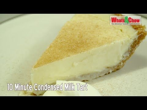 10 Minute Condensed Milk Tart No Bake Condensed Milk Tart Easy No Bake Tart Whats4chow Youtube In 2020 Milk Tart Tart Baking Easy Puddings