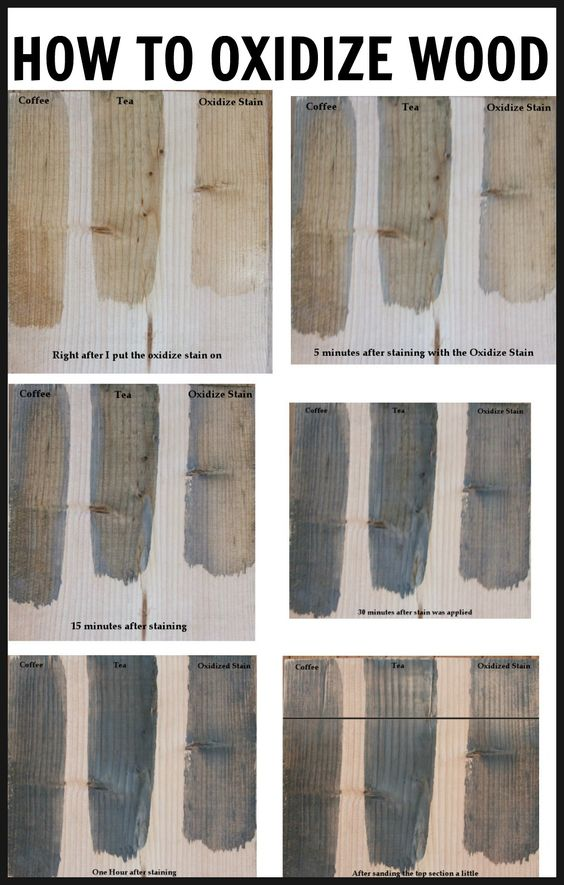 How to oxidize wood