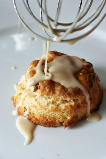 Maple Bacon Biscuits with Maple Glaze
