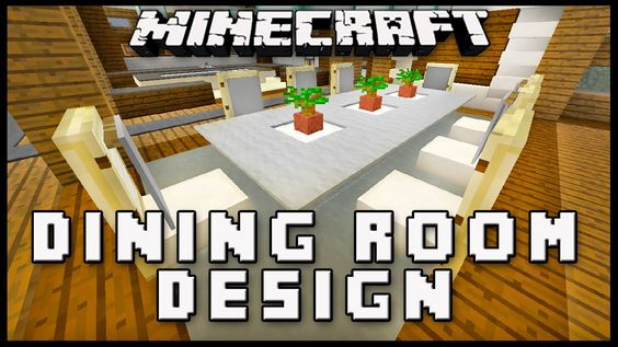 Minecraft How To Make Dining Room Furniture Modern House Build Ep 19