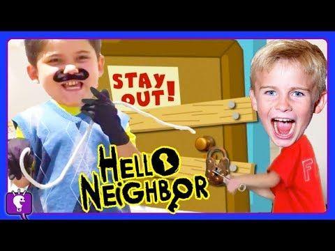 Giant Hello Neighbor Egg Video Gaming Compilation With Hobbykids Youtube Hello Neighbor Youtube Hobbies For Women