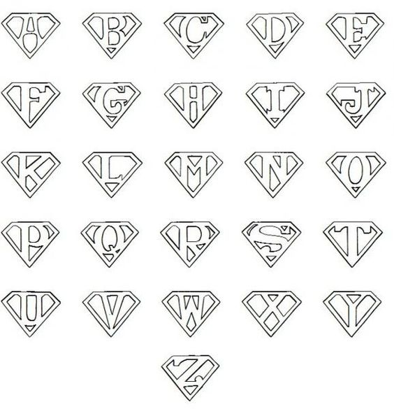 Printable Superman Logo Letter | Cricut | Pinterest ...