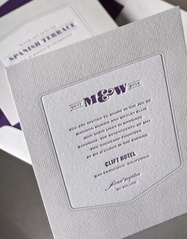 affordable letterpress wedding invitations structure - Affordable Letterpress Wedding Invitations