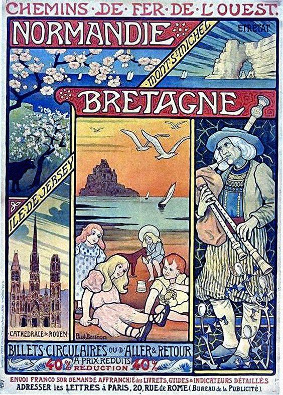 Paul Berthon, Chemins de Fer de l'Ouest : Normandie et Bretagne: