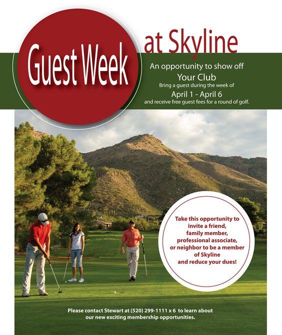 Coming Soon...Guest Week at Skyline #Tucson #Golf #membership