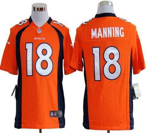 Broncos 18 Peyton Manning Orange Team Color Man Stitched Game ...