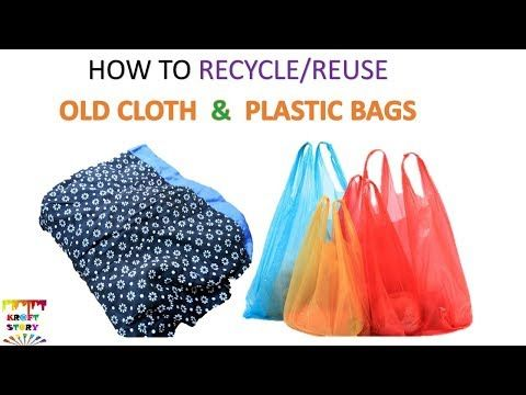 100 Plastic Bag Recycling Old Cloth Recycling Unique Idea Best Out Of Waste Youtube Recycled Plastic Bags Plastic Bag Recycling