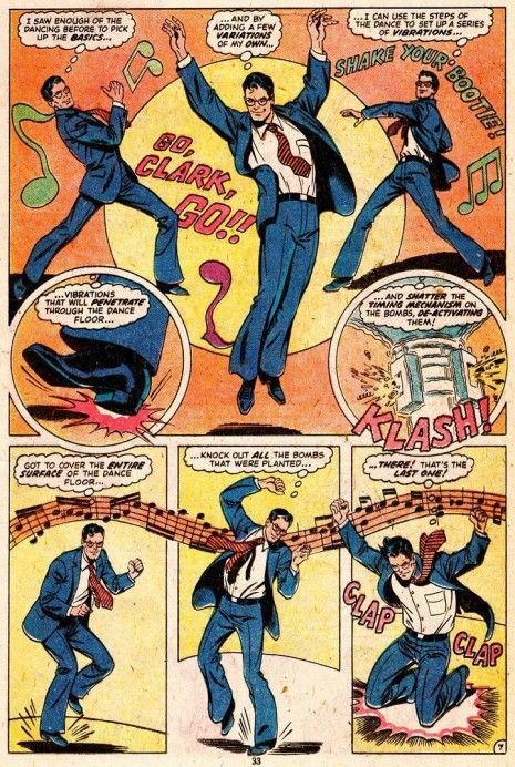Via io9 today comes the reminder that in 1979, Superman once disarmed a bomb by disco dancing.