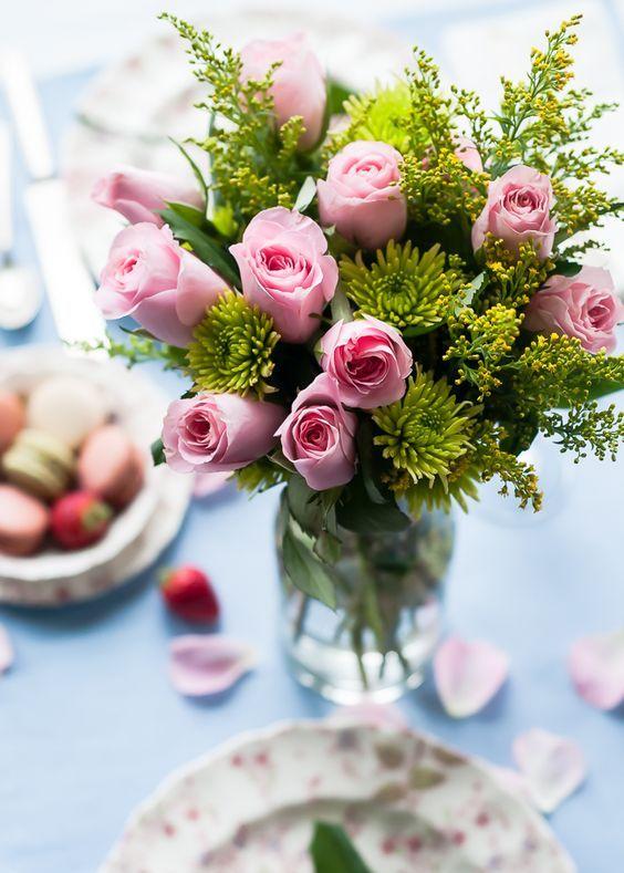 Bouquet de roses roses