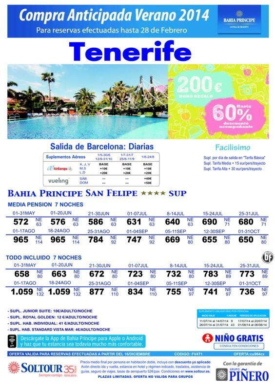 Tenerife, hasta 60% Compra Anticipada Bahía Príncipe San Felipe, salidas desde Barcelona ultimo minuto - http://zocotours.com/tenerife-hasta-60-compra-anticipada-bahia-principe-san-felipe-salidas-desde-barcelona-ultimo-minuto/