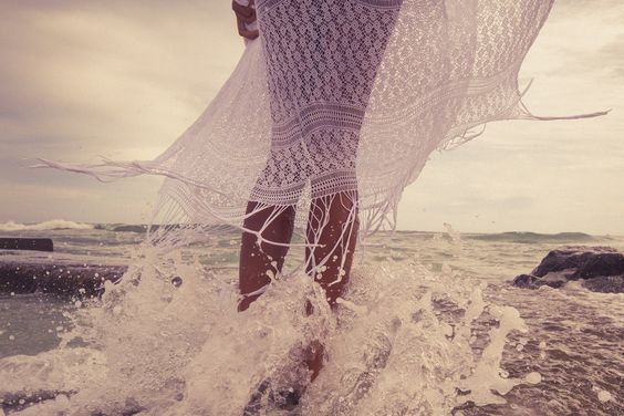 Splash!  #lace #ocean