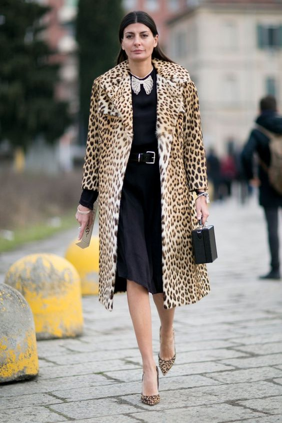 Classic animal print coat  | For more style inspiration visit 40plusstyle.com