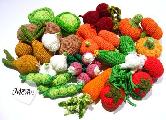 Crochet Amigurumi Vegetables : Mushrooms, Vegetables and Crochet on Pinterest