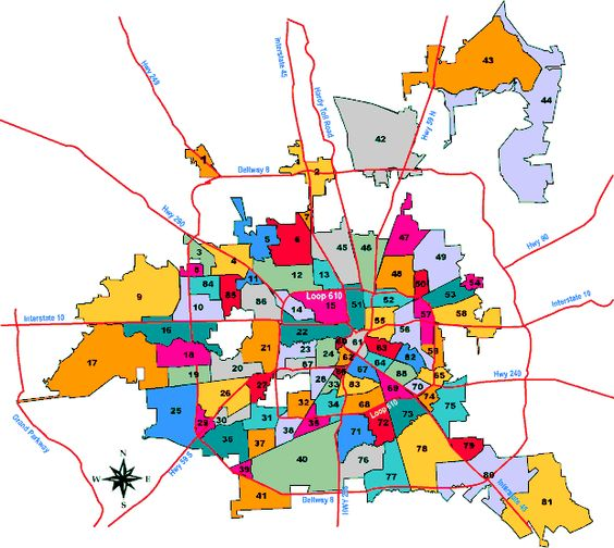 Map Of Houston Neighborhoods For Those Of Us Who Didn39t