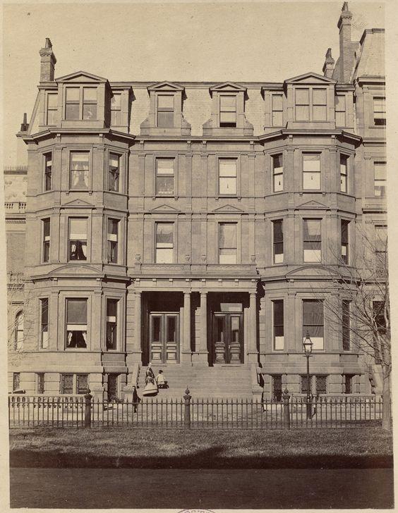 Residence of Mrs. D. N. Spooner and J. A. Burnham | Street views: Commonwealth Ave. c. 1870 - 1879 Boston
