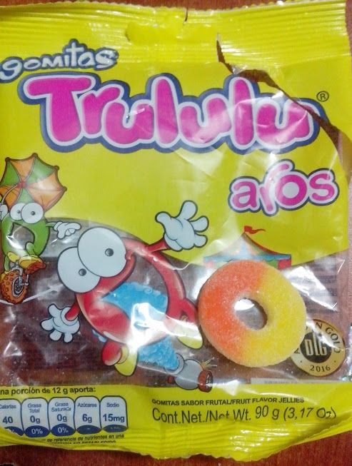 Trululu Aros Super Colombia Pops Cereal Box Cereal Pops Cereal Box