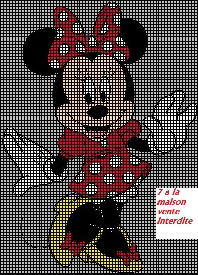Minnie en grille gratuite topolino friends - Grille gratuite point de croix disney ...