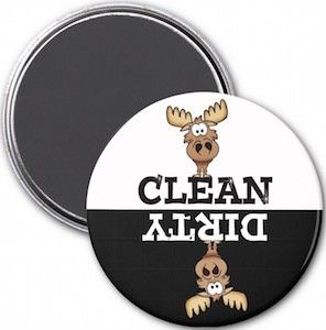 Moose Dishwasher Magnet: