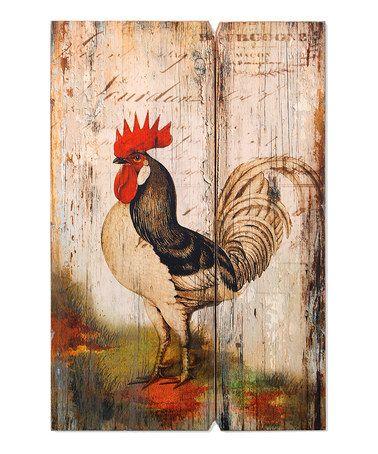 Rooster Wood Wall Art #zulilyfinds