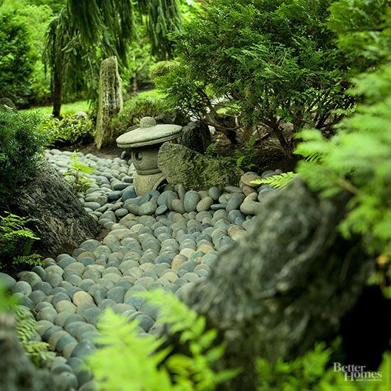 Japanese gardens river rocks and evergreen on pinterest for Rocks for japanese gardens