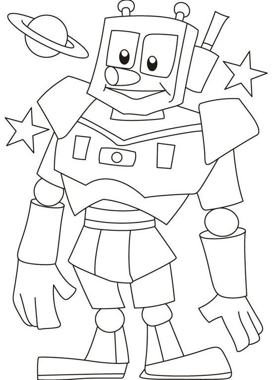 Coloring Pages Robots And Coloring On Pinterest