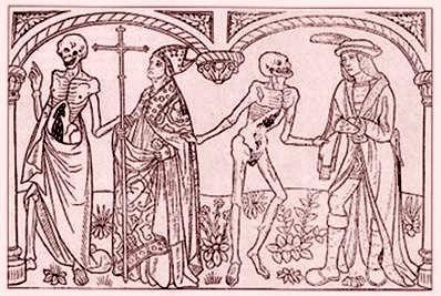 Xilogravura italiana de 1486. Retira do Livro a História da Morte