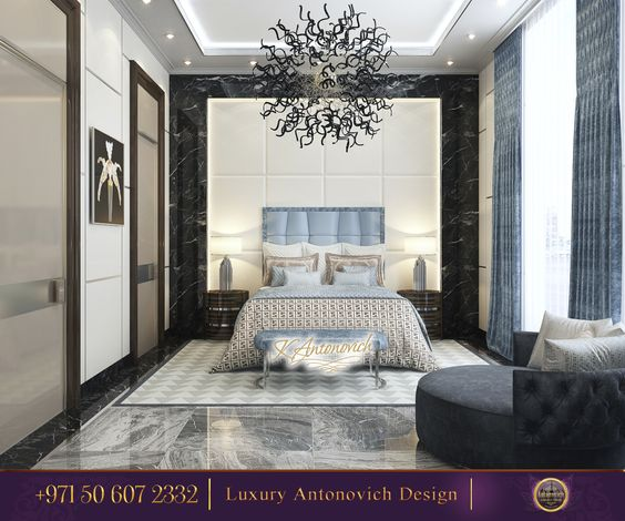 Stylish Bedroom Decorating Idea!Only Sophistication and Harmony that fill an atmosphere with lightness and freshness! Meet New Day With A Beautiful Things!✨  http://www.antonovich-design.ae/ Order your interior design now!☎️