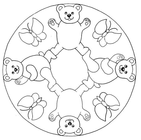 Mandalas infantiles para colorear e imprimir - Dibujos para colorear - IMAGIXS