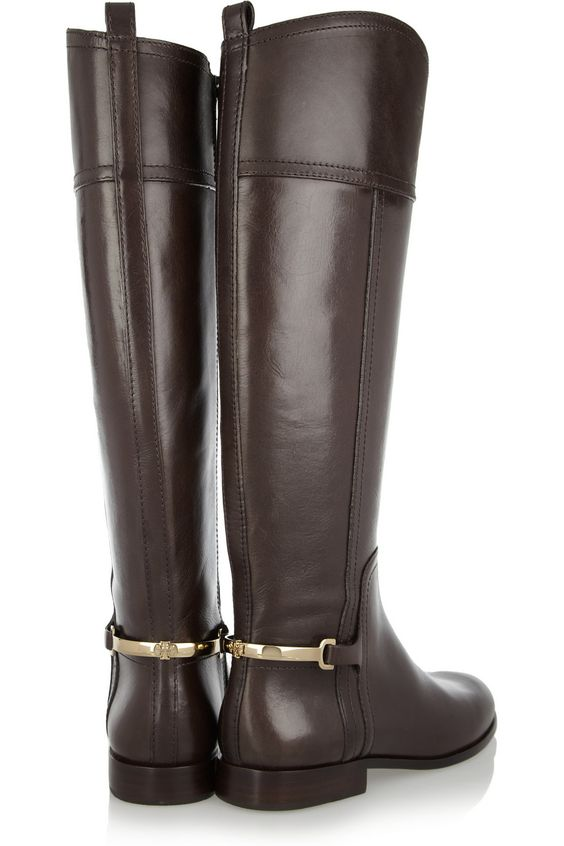 chocolate riding boots | Tory Burch | Boots | Pinterest ...