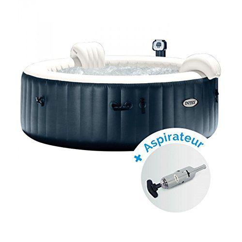 Pack Spa Gonflable Intex Pure Spa Plus Bulles 4 Personnes Aspirateur Nettoyeur A Batterie Spa Gonflable Intex Spa Gonflable Nettoyeur