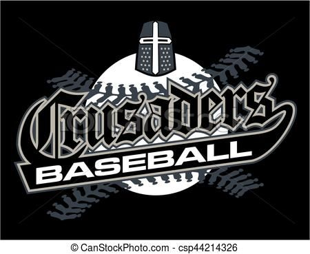 Vector - crusaders baseball - stock illustration, royalty free ...