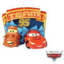 """Cars' Lightening McQueen and Tow Mater Birthday Candle for making a """"Cars"""" theme birthday cake."""