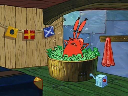 Mr Krabs Money Bath