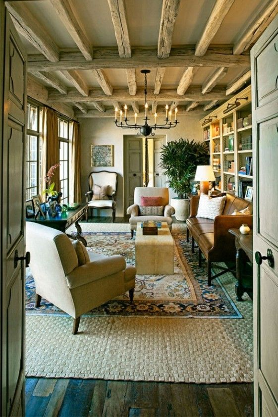 Love the beams on the ceiling-Rustic Charm