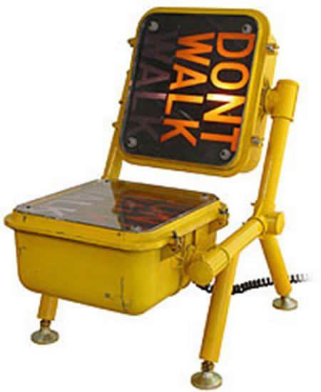 Traffic sigh chair