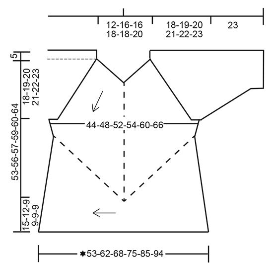 """Crayons - Von oben nach unten im Winkel gestrickter DROPS Pullover in """"Fabel"""" mit Streifen, Krausrippen und Dominoquadraten. Größe S - XXXL. - Free pattern by DROPS Design"""
