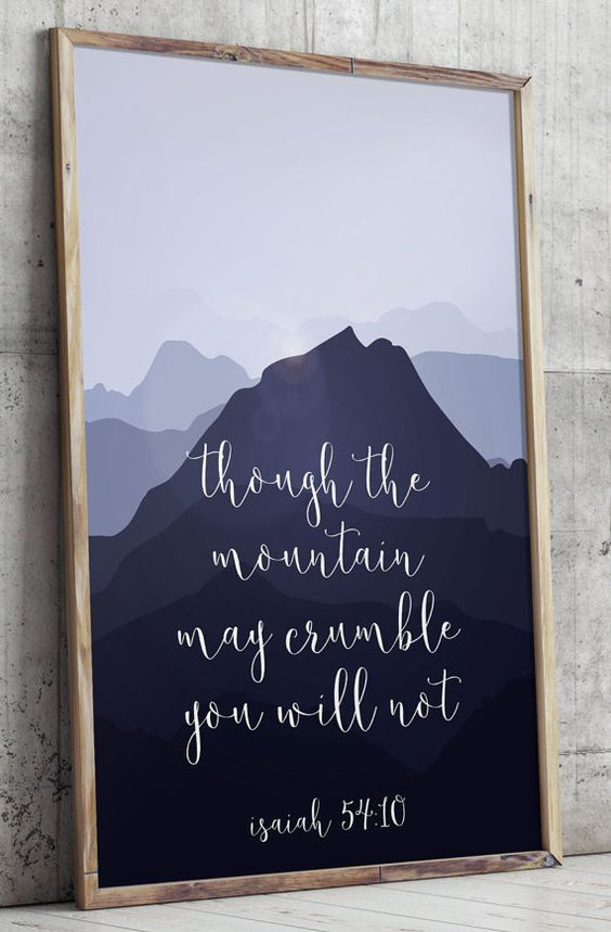 Printable verses, Isaiah 54:10, Scripture Art print, Inspirational wall art…