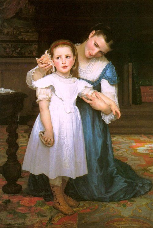 The Seashell by William-Adolph Bouguereau, 1871